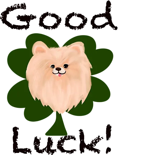 Cool KK Lucky Poodle messages sticker-0
