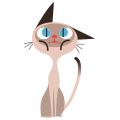 Siamese Meow messages sticker-1