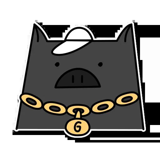 Pig mob sticker messages sticker-7