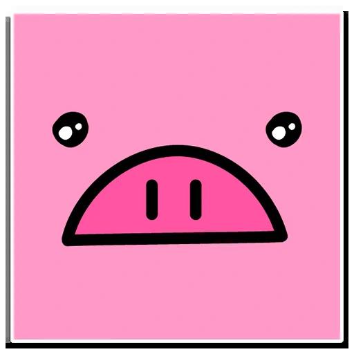 Pig mob sticker messages sticker-4