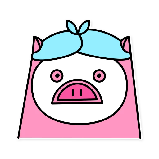 Pig mob sticker messages sticker-10