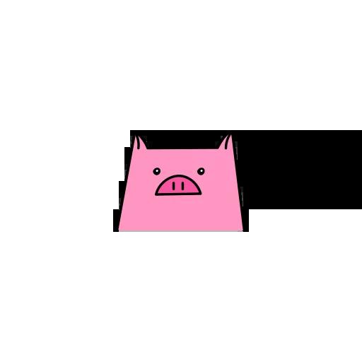 Pig mob sticker messages sticker-1
