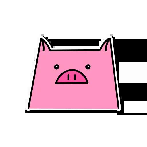 Pig mob sticker messages sticker-5