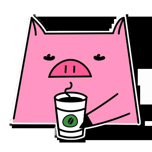 Pig mob sticker messages sticker-11