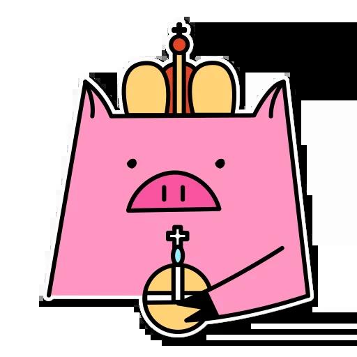 Pig mob sticker messages sticker-6