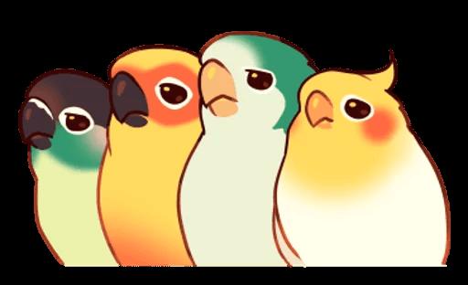 Beautiful Coca Bird messages sticker-10