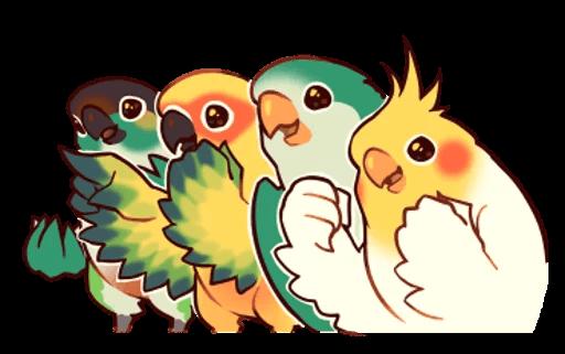 Beautiful Coca Bird messages sticker-11