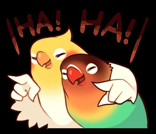 Beautiful Coca Bird messages sticker-3
