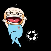 各种足球表情贴图 messages sticker-5
