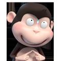Duobao Monkey-iMessage表情贴纸 messages sticker-8
