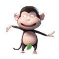 Duobao Monkey-iMessage表情贴纸 messages sticker-6