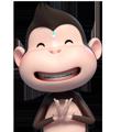 Duobao Monkey-iMessage表情贴纸 messages sticker-1