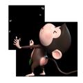 Duobao Monkey-iMessage表情贴纸 messages sticker-4