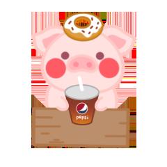 PinkPiggy - sticker messages sticker-9