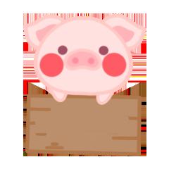 PinkPiggy - sticker messages sticker-8