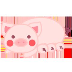 PinkPiggy - sticker messages sticker-1