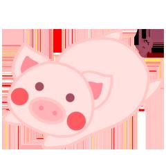 PinkPiggy - sticker messages sticker-2