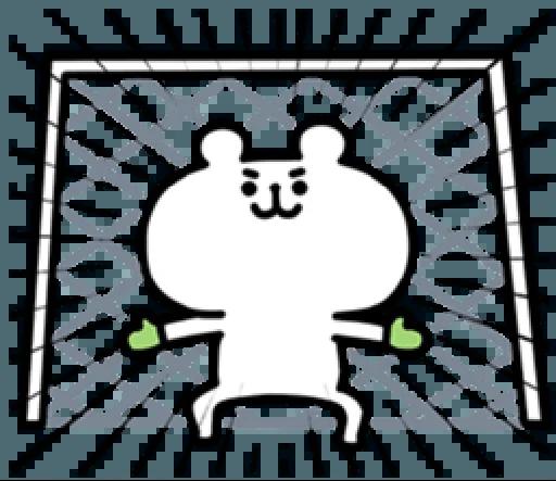 LittleWhiteBearSticker messages sticker-10