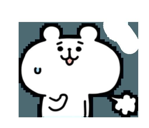LittleWhiteBearSticker messages sticker-9