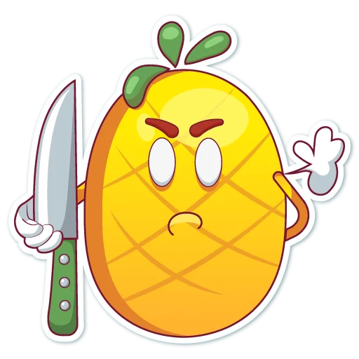 Big cute pineapple messages sticker-11