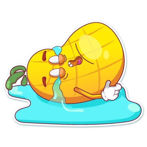 Big cute pineapple messages sticker-8