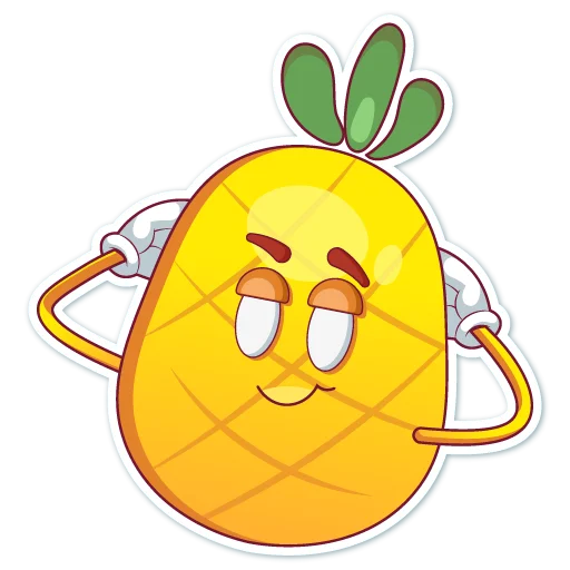 Big cute pineapple messages sticker-2