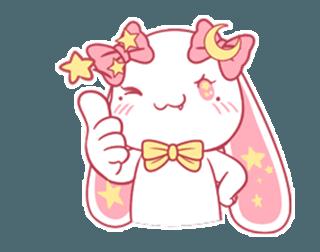 Proud little rabbit messages sticker-1