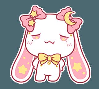 Proud little rabbit messages sticker-4