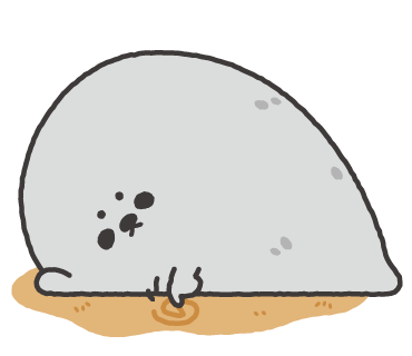 Lazy Seal Sticker messages sticker-4