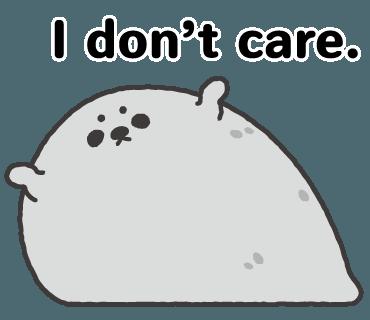 Lazy Seal Sticker messages sticker-10