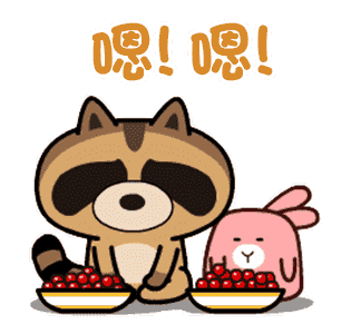 daily life of cute raccoons messages sticker-7
