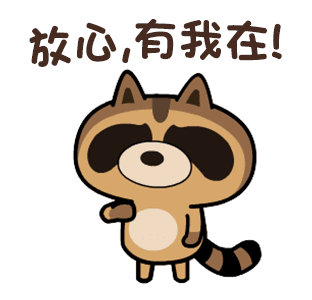 daily life of cute raccoons messages sticker-11