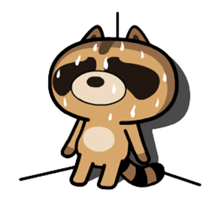 daily life of cute raccoons messages sticker-10