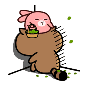 daily life of cute raccoons messages sticker-6