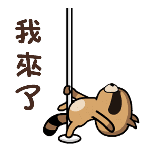 daily life of cute raccoons messages sticker-0