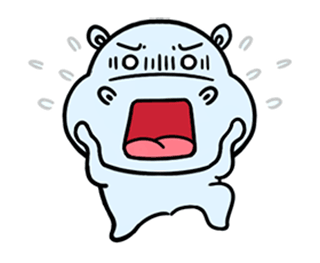 daily life of lovely Hippos messages sticker-1