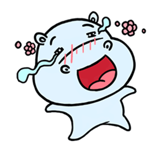 daily life of lovely Hippos messages sticker-3