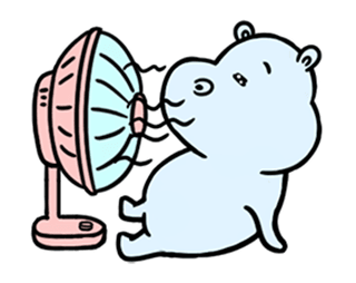 daily life of lovely Hippos messages sticker-9