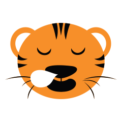 Cute Targer -Sticker messages sticker-2