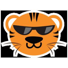 Cute Targer -Sticker messages sticker-3