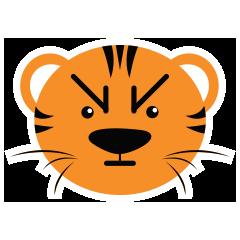 Cute Targer -Sticker messages sticker-7