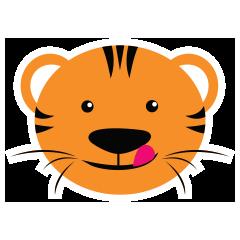 Cute Targer -Sticker messages sticker-11