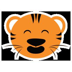 Cute Targer -Sticker messages sticker-0