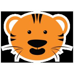 Cute Targer -Sticker messages sticker-6