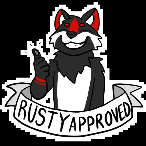Puppy Rusty Sticker messages sticker-5