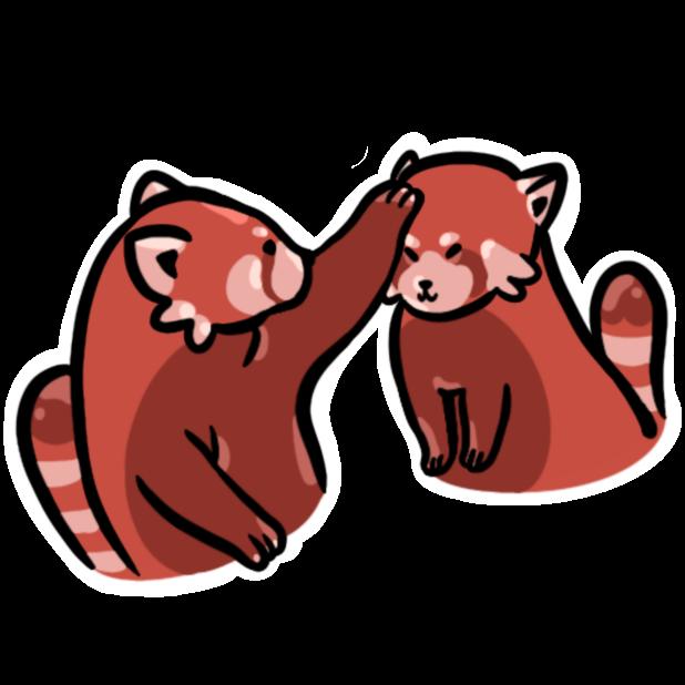 Cute Animal Emoji messages sticker-10