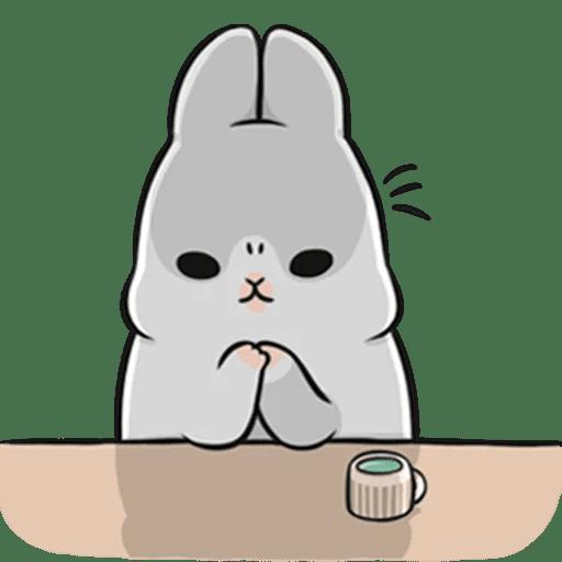 Machiko Rabbit Pack# 3 messages sticker-8