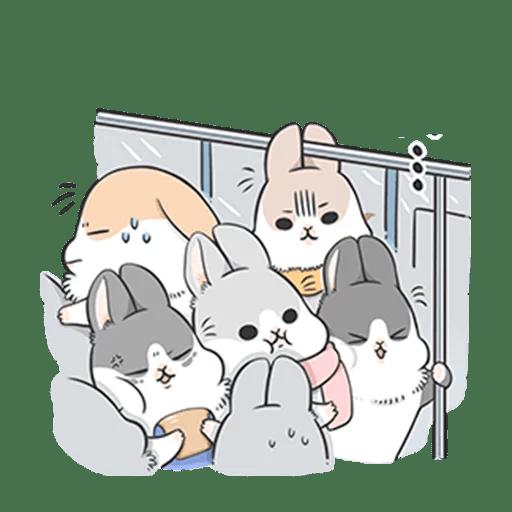 Machiko Rabbit Pack# 3 messages sticker-11