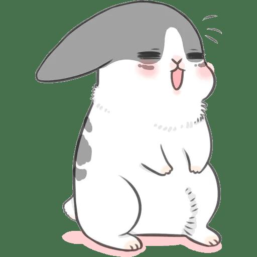 Machiko Rabbit Pack# 3 messages sticker-3