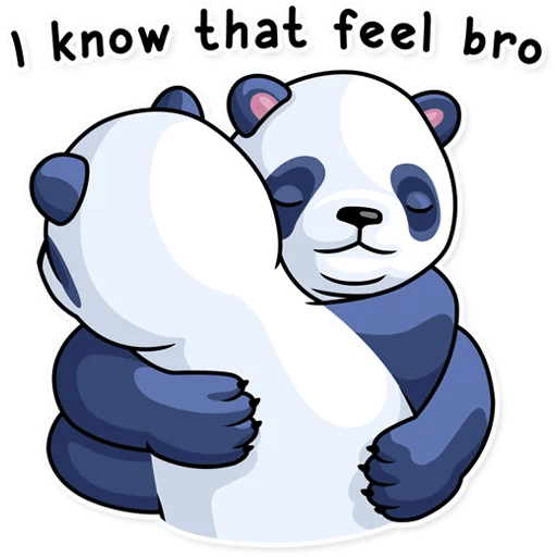 Fluffy Lazy Panda Stickers messages sticker-9